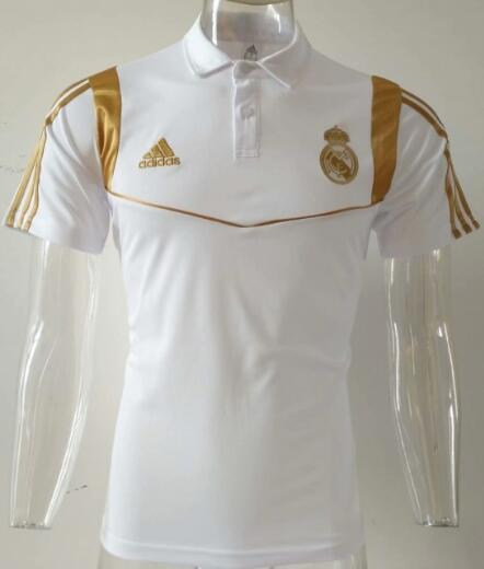 maillot polo homme Real Madrid 2019-2020 blanco