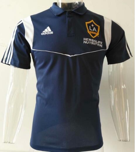 t-shirt polo Los Angeles Galaxy 2020 bleu