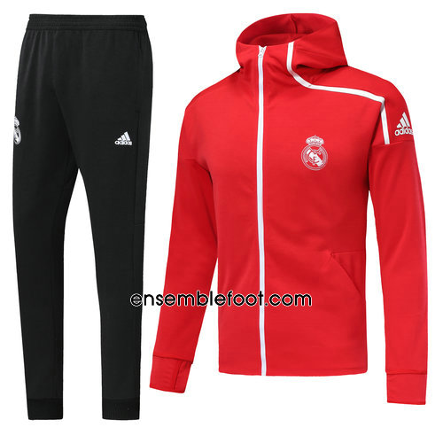 ensemble survêtement foot homme rouge real madrid 2018-2019