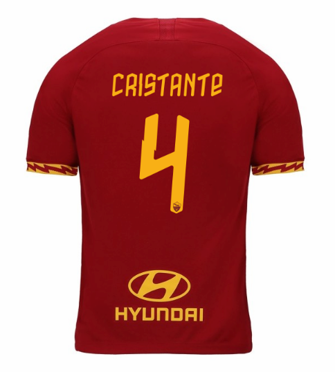ensemble maillot cristante as rome 2020 domicile