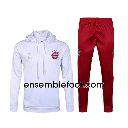 ensemble survêtement foot homme blnac bayern munich hoodies 2017-2018
