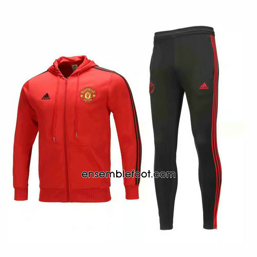 ensemble survêtement manchester united homme hoodies rouge 2019