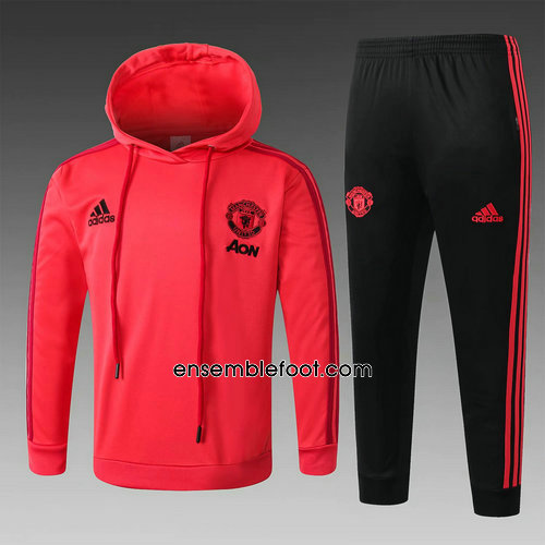 ensemble survêtement manchester united homme hoodies rouge 2018 2019