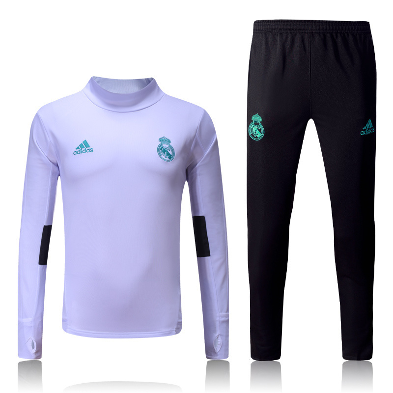 ensemble survêtement foot homme blanc real madrid 2017-2018