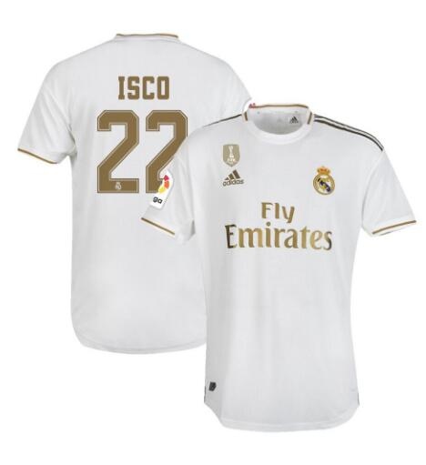 ensemble maillot isco real madrid 2020 domicile