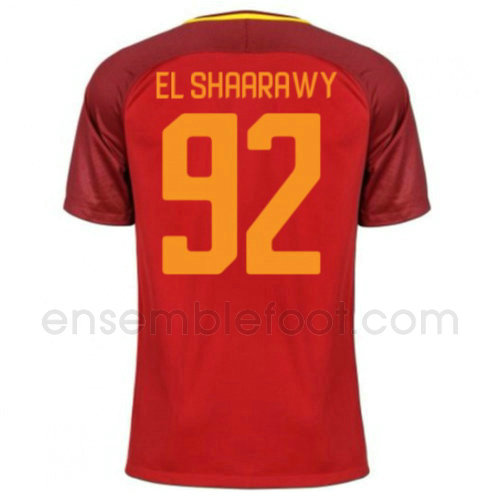 ensemble maillot el shaarawy 92 as rome 2017-2018 domicile