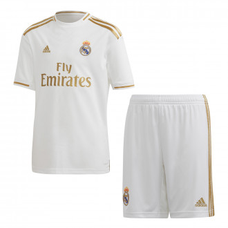 maillot ensemble enfant real madrid 2019-2020 domicile