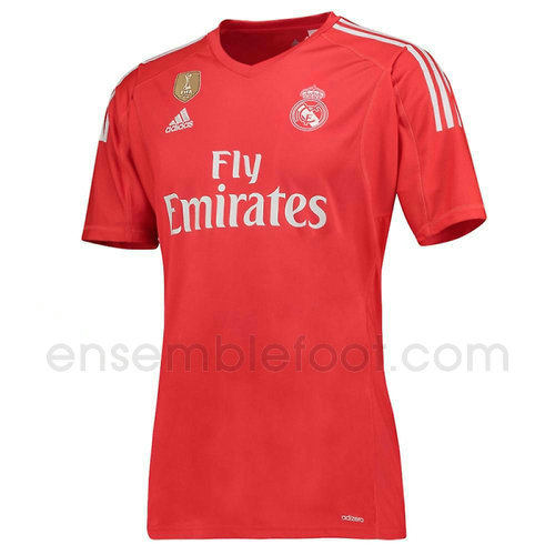 ensemble maillot rouge real madrid 2017-2018 gardien