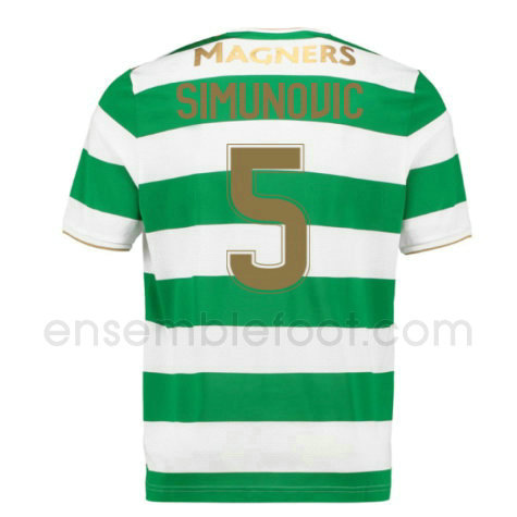 ensemble maillot simunovic 5 celtic 2017-2018 domicile