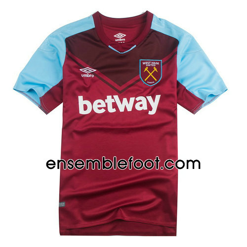 ensemble maillot west ham united 2017-2018 domicile