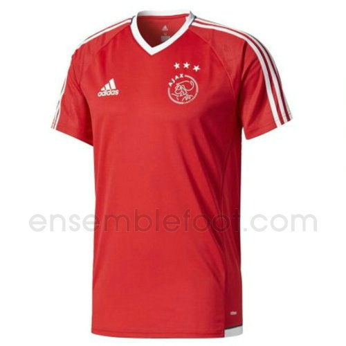 maillots entrainement hommes afc ajax 2017-2018 rouge