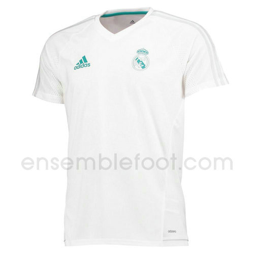 maillots entrainement hommes real madrid 2017-2018 blanc