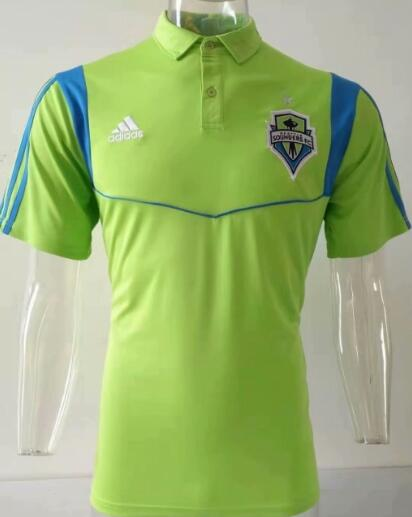 t-shirt polo homme Seattle Sounders 2019-2020 vert