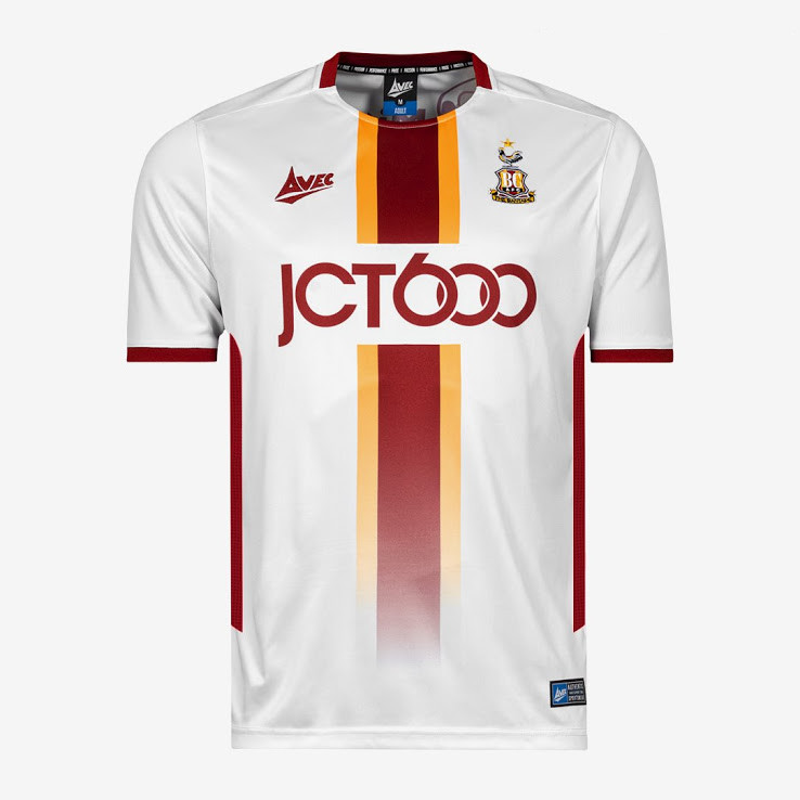 officielle maillot Bradford City 2019-2020 exterieur