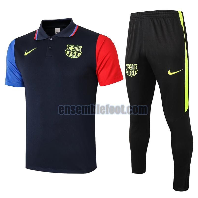 maillots de foot polo barcelone 2020-2021 bleu rouge