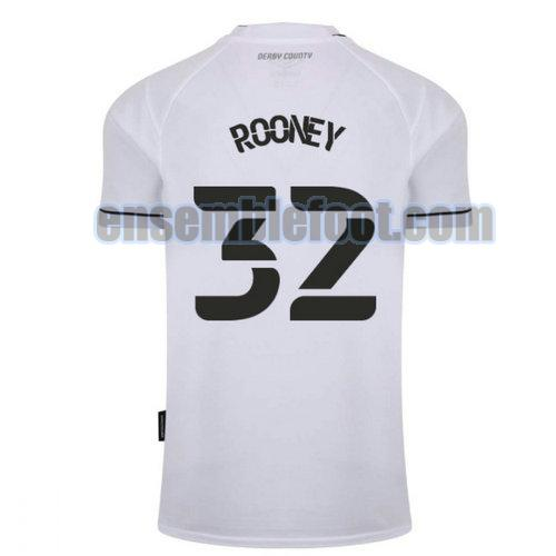 maillots derby county 2020-2021 domicile rooney 32