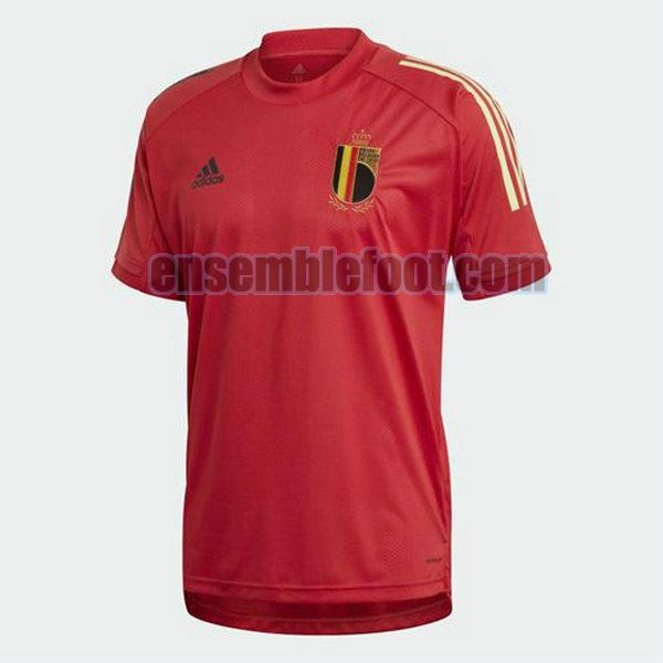 maillots formation belgique 2020-2021 rouge