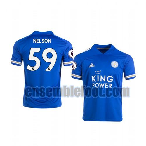 maillots leicester city 2020-2021 domicile ben nelson 59