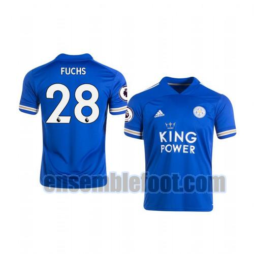 maillots leicester city 2020-2021 domicile christian fuchs 28
