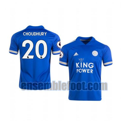 maillots leicester city 2020-2021 domicile hamza choudhury 20
