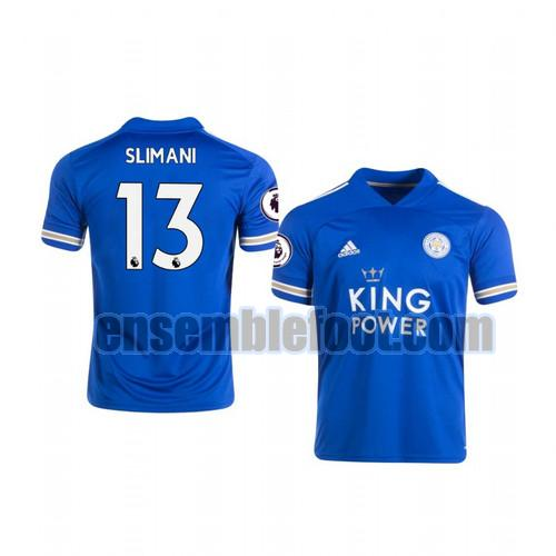 maillots leicester city 2020-2021 domicile islam slimani 13