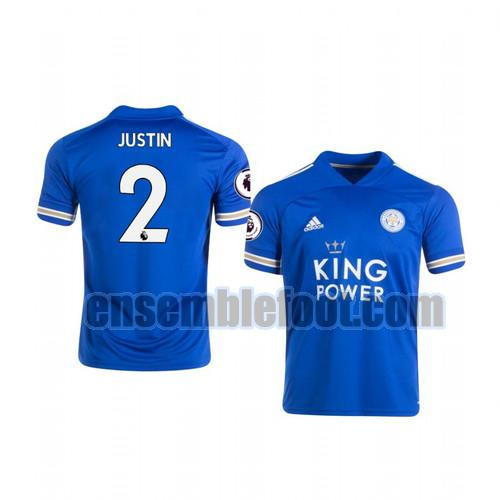 maillots leicester city 2020-2021 domicile james justin 2