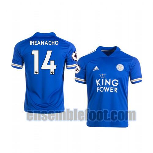 maillots leicester city 2020-2021 domicile kelechi iheanacho 14