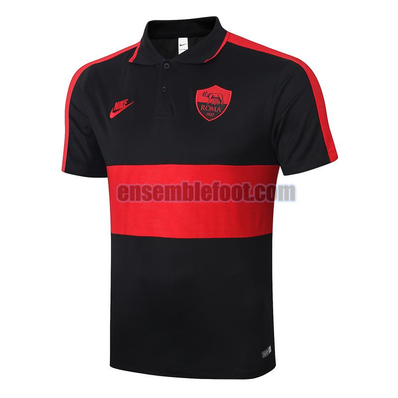 maillots polo as roma 2020-2021 noir rouge