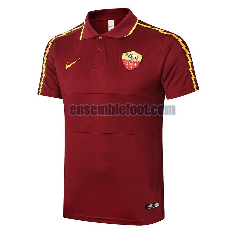 maillots polo as roma 2020-2021 rouge
