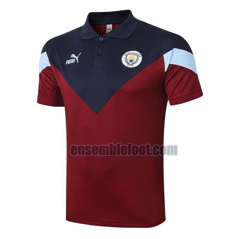 maillots polo manchester city 2020-2021 bleu rouge