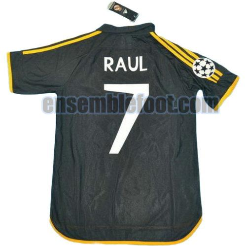 maillots real madrid 1999-2000 thaïlande exterieur paul 7