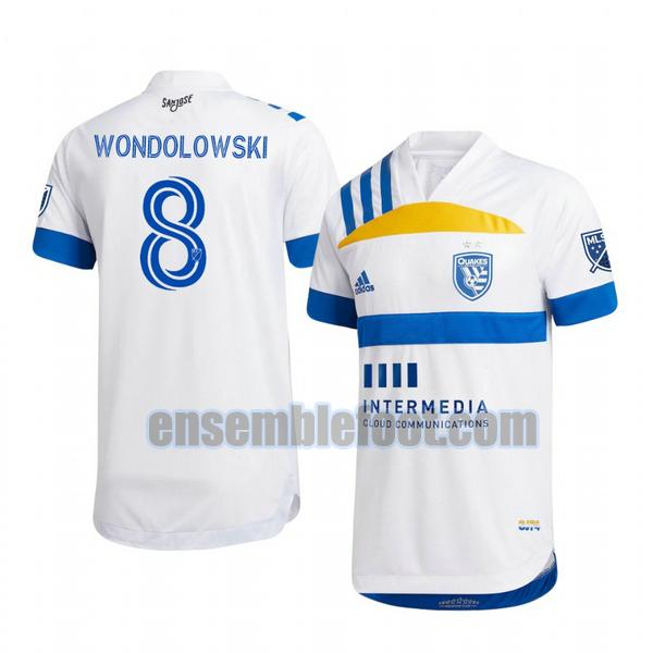 maillots san jose earthquakes 2020-2021 exterieur chris wondolowski 8
