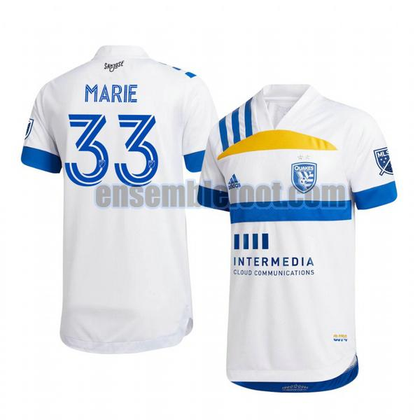maillots san jose earthquakes 2020-2021 exterieur paul marie 33