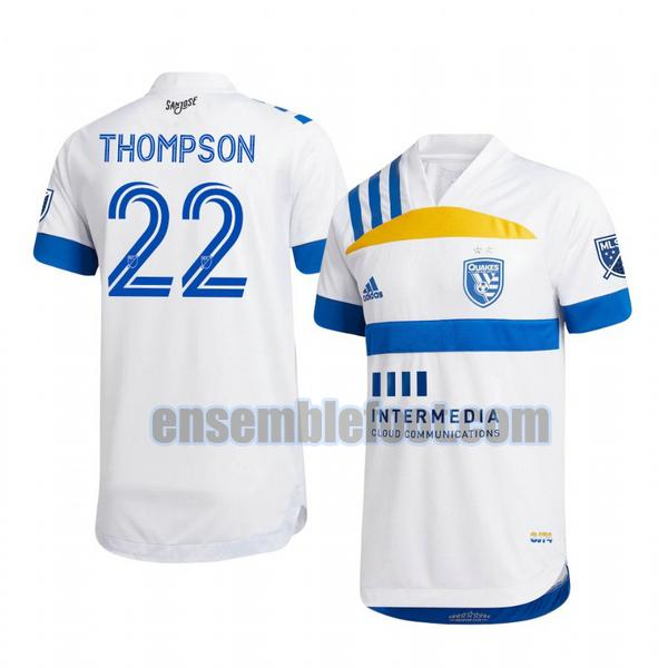 maillots san jose earthquakes 2020-2021 exterieur tommy thompson 22