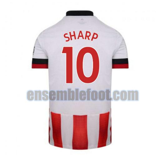 maillots sheffield united 2020-2021 domicile sharp 10