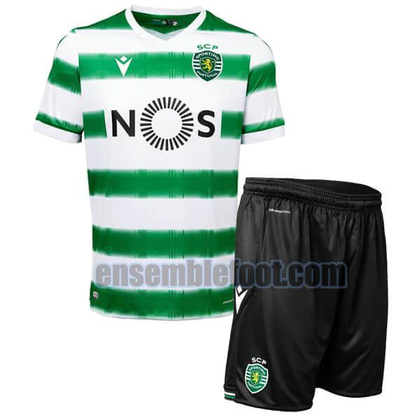 maillots sporting cp 2020-2021 enfants domicile