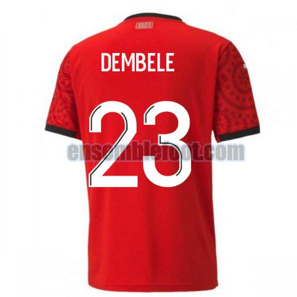 maillots stade rennais 2020-2021 domicile dembele 23