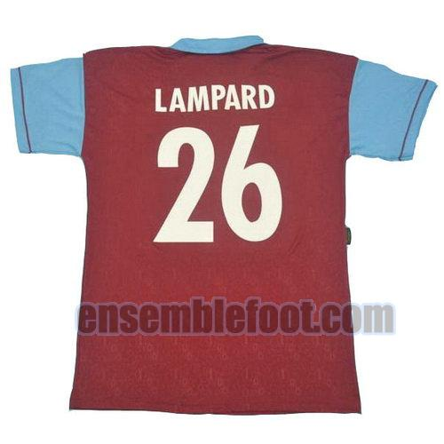 maillots west ham united 1995 100th thaïlande domicile lampard 26