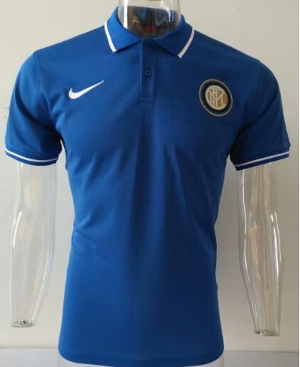 t-shirt polo homme Inter Milan 2020 bleu