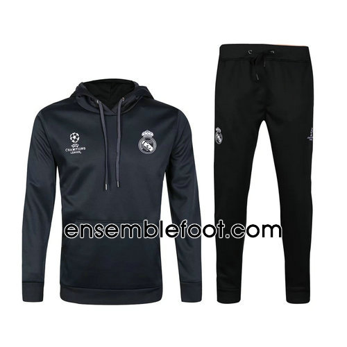 survêtement de foot homme real madrid noir hoodies real madrid 2017-2018
