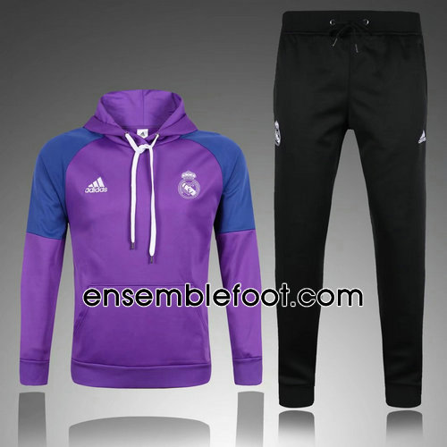 survêtement de foot real madrid violet hoodies real madrid 2017-2018