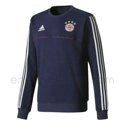 sweats pull foot hommes marine bayern munich 2017-2018