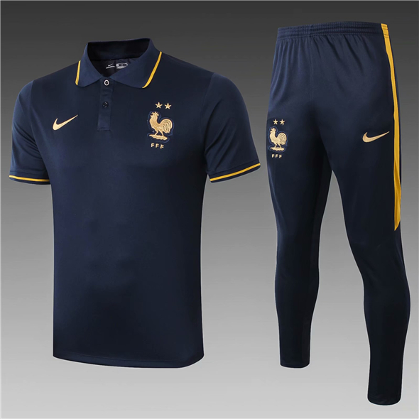 t-shirt Polo de football France 2020 bleu