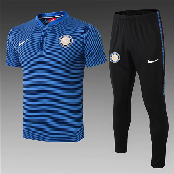 t-shirt polo homme Inter Milan 2019 Bleu