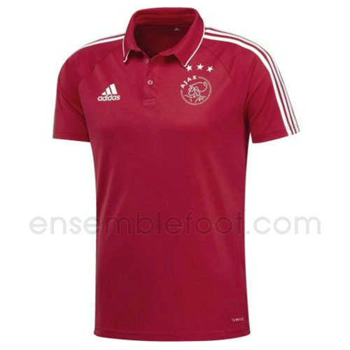 t-shirt polo homme afc ajax 2017-2018 rouge