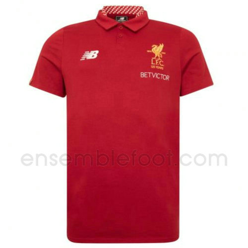 t-shirt polo homme liverpool 2017-2018 rouge