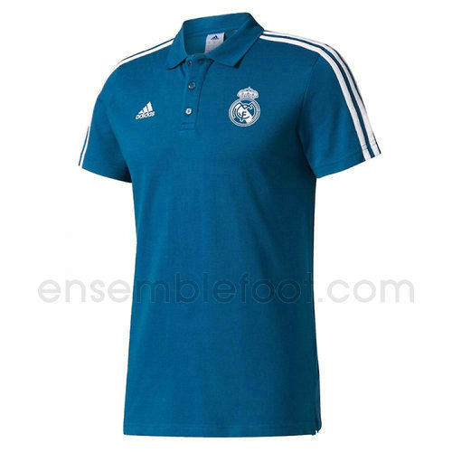 t-shirt polo homme real madrid 2017-2018 bleu