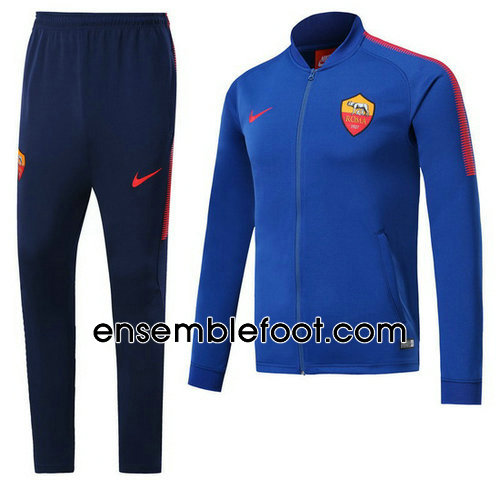 veste de foot homme bleu as roma 2017-2018