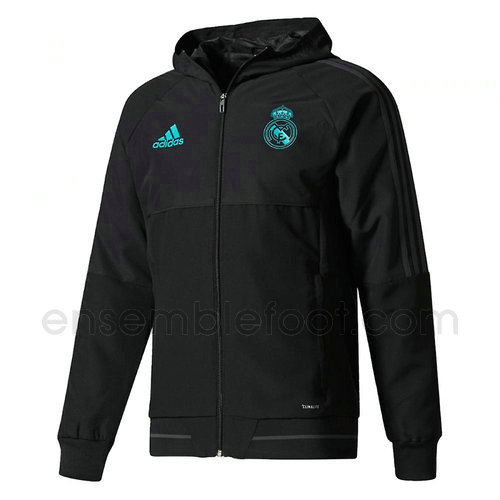 veste de foot homme noir real madrid 2017-2018
